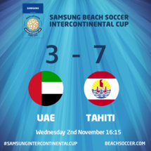 Beachsoccer « Samsung BS Cup » : Les Tikitoa se qualifient pour les demies finales à Dubaï