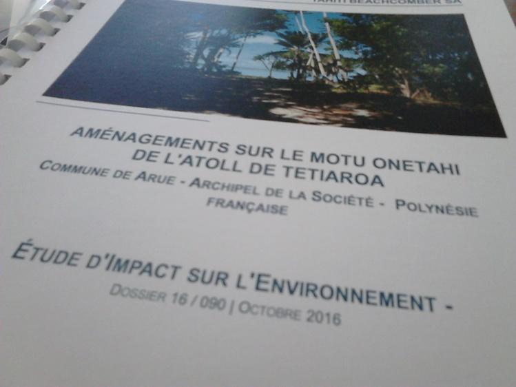 L'étude d'impact est consultable depuis le 28 octobre.