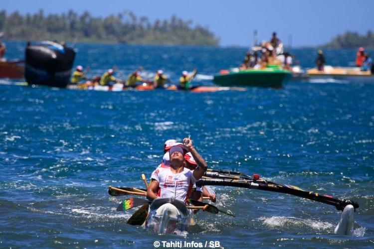 Team Opt A remporte la deuxième étape d'Hawaiki Nui Va'a après de gros efforts