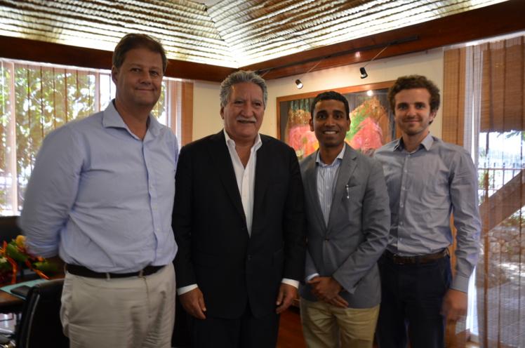 Ranjan Goswami, vice-président de Delta pour la région Ouest, était en Polynésie française pendant deux jours en cette fin de semaine.