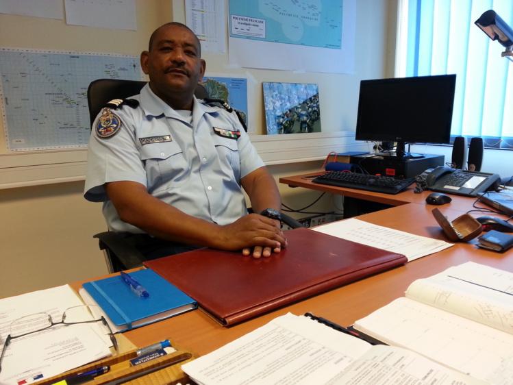 Le capitaine Olivier Faure, officier adjoint chargé de la sécurité routière pour la gendarmerie en Polynésie française.