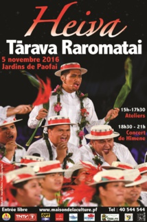 Seconde édition du Heiva Tarava Raromatai aujourd'hui