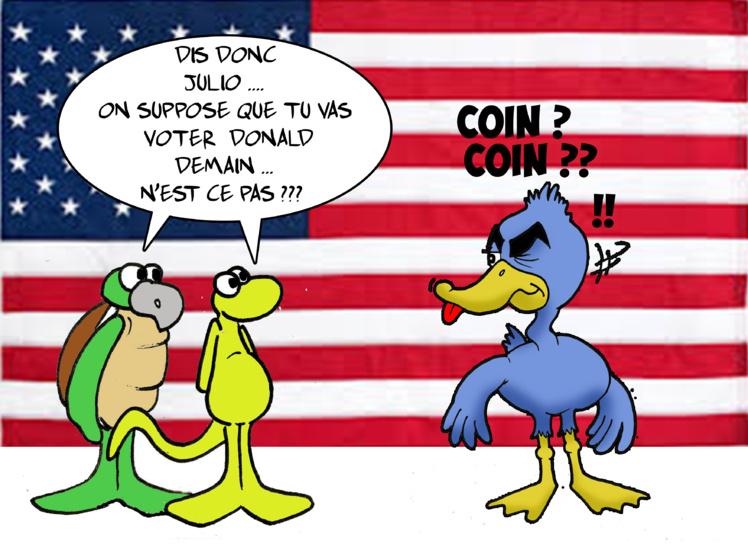 """"""" Les élections américaines """" vu par Munoz"""