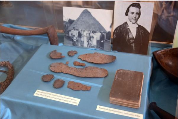Voici les restes du révérend qui ont été rendus à ses descendants lors de la cérémonie de réconciliation.