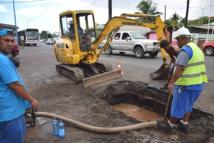 Faa'a : réparation d'une conduite en eau dans le quartier Mai/Batipol