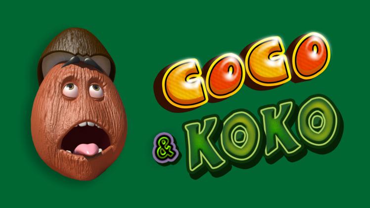 """""""Coco & Koko"""" ou les drôles d'aventures de deux noix de coco à Tahiti."""