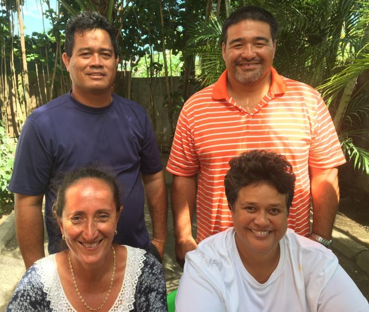 Bora Bora Team, le groupe de l'opposition qui réunit cinq élus, dont un est absent sur cette photo.