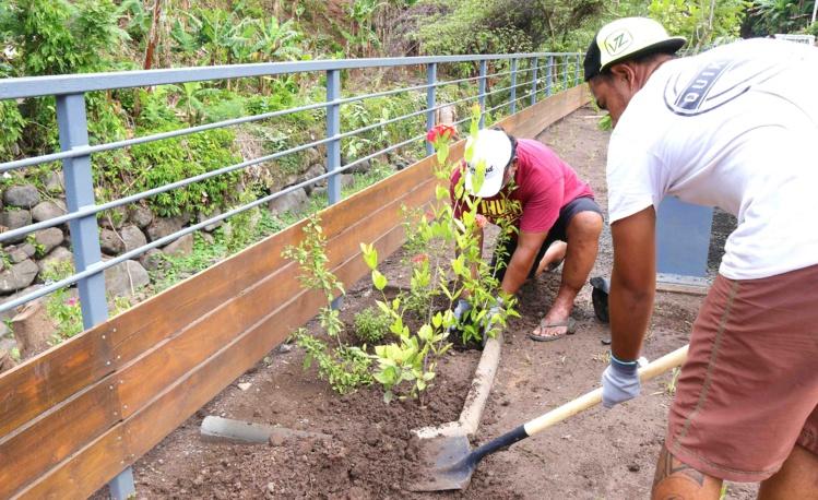 Inauguration des travaux d'aménagements de la Papeava