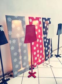 Ces lampes très originales de Helle seront proposées lors de l'exposition à Punaauia