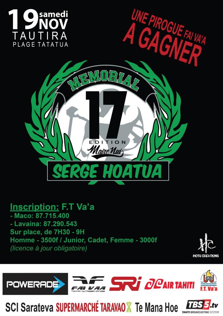 Va'a : 17ème édition du Mémorial Serge Hoatua