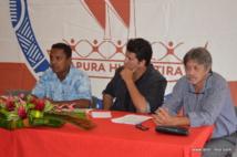 Tearii Alpha, lundi à la permanence Tapura Huiraatira de Papeete.