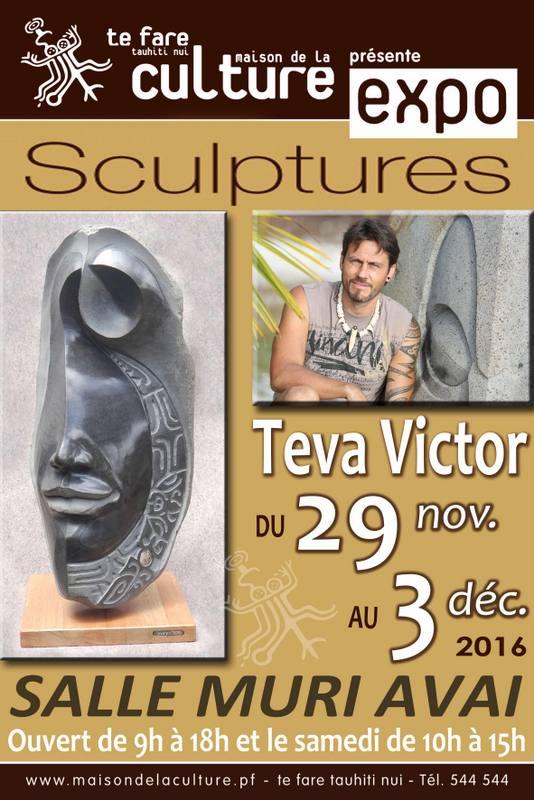 Sculpture : Teva Victor expose ses nouveaux tiki polynésiens