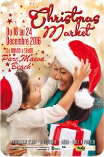 Un marché de Noël au parc Maeva Beach