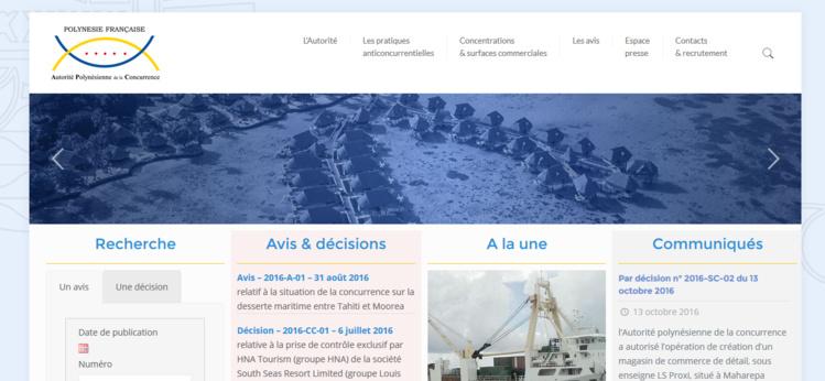 L'Autorité polynésienne de la concurrence a son site internet