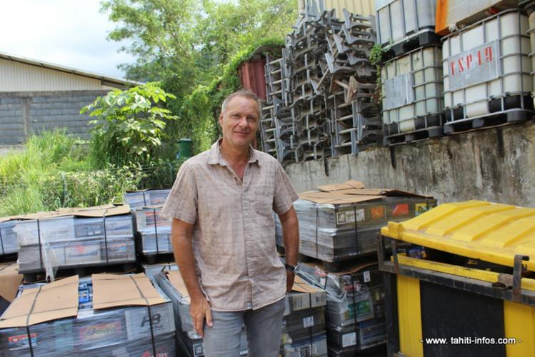 Jean-Paul Peillex, directeur général de Technival, sur le site de Tipaerui.