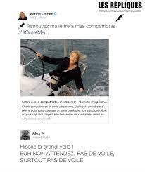 """Marine Le Pen s'adresse à ses """"compatriotes d'Outre-mer"""" sur son blog"""
