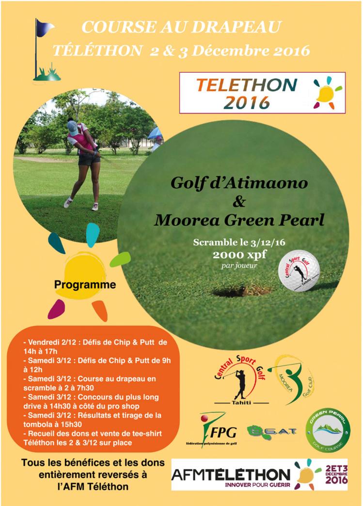 Les golfeurs se mobilisent ce week-end en faveur du Téléthon