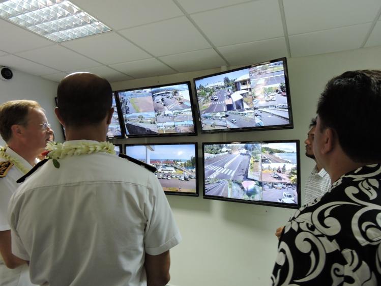 Les caméras peuvent être pilotées à distance par les policiers municipaux.