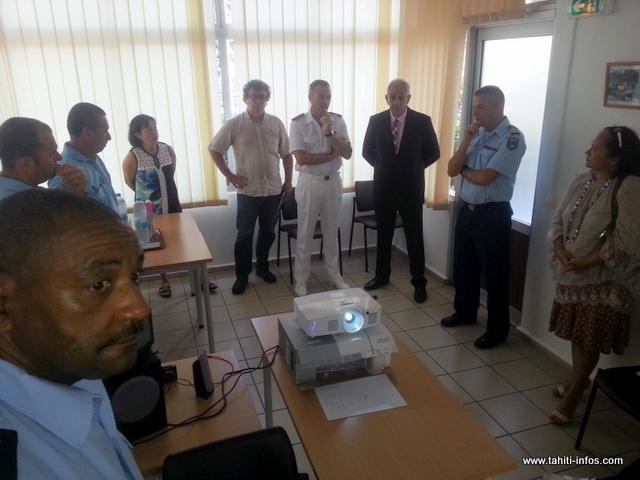 Les partenaires de l'opération ont présenté la campagne ce matin à la caserne de gendarmerie Bruat à Papeete.