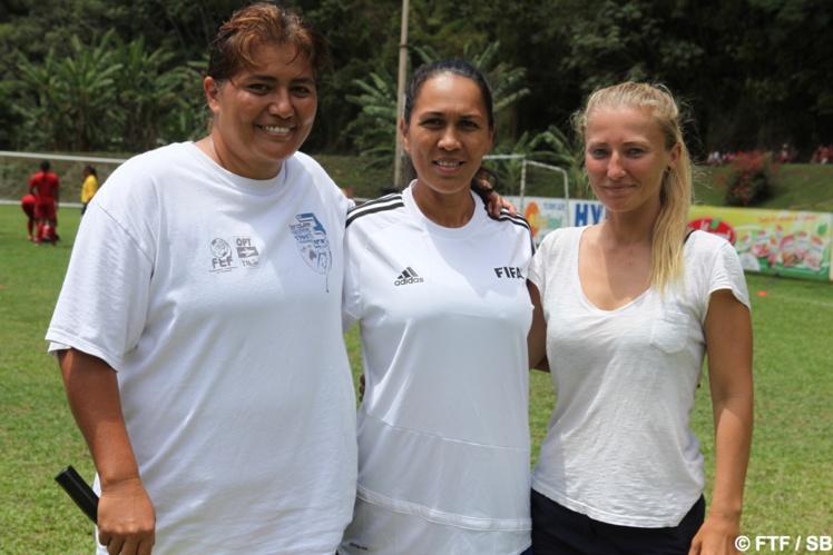 Jane Mahiatapu, Angela Taiarui et Stéphanie Spielmann