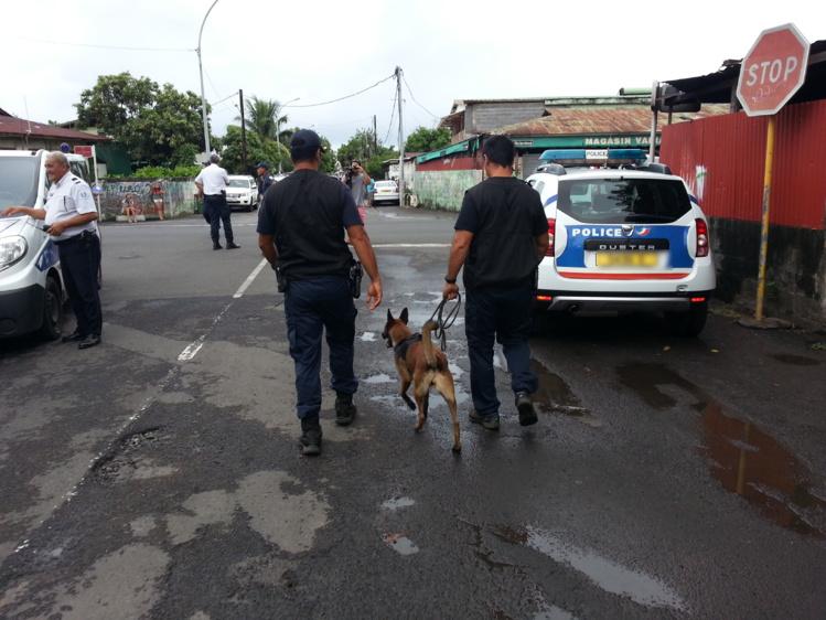 Opération de police en cours quartier Paraita à Papeete