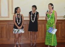 Les trois gagnantes de la catégorie agriculture présentent leurs projets