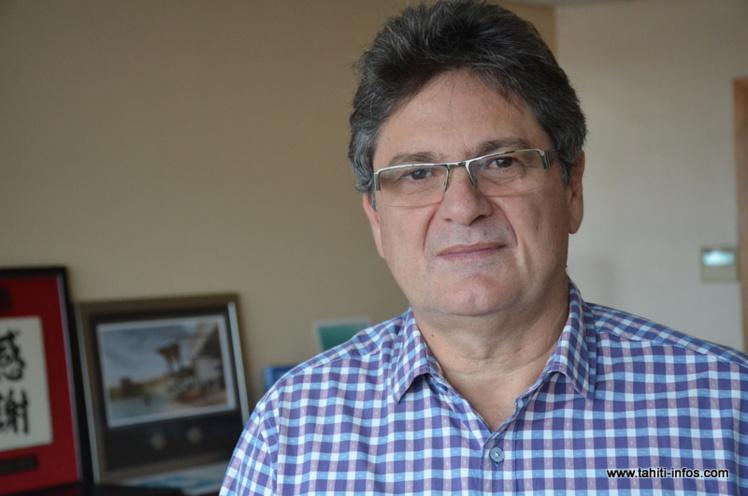 Michel Monvoisin, Président-directeur général (P-dg) de la compagnie aérienne Air Tahiti Nui.