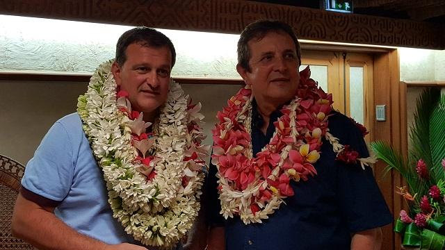 Louis Aliot, vice-président du Front national, est à Tahiti