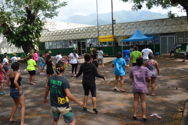 Samedi, la classe BTS Services et prestations des secteurs sanitaires et sociales du lycée de Taaone a organisé un challenge de 14 heures, de 8 à 22 heures