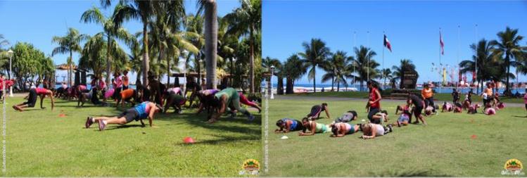 Plusieurs activités sportives étaient mises en place pour la journée.