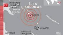 Séisme de magnitude 7,7 aux îles Salomon, alerte au tsunami dans le Pacifique Ouest
