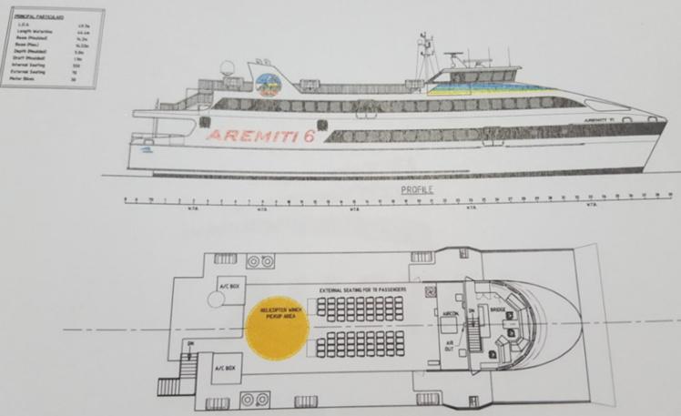 """Du côté du groupe Degage, on ne comprend pas le refus du comité. """"le Aremiti 6 n'est pas un bateau supplémentaire, c'est un remplacement de bateau"""", souligne Eugène Degage."""