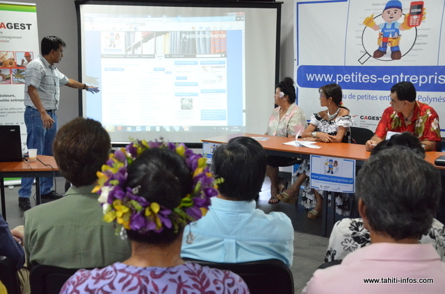 Le site petites-entreprises.pf, présenté en 2014, permet aux petites entreprises de se faire connaitre sur Internet.