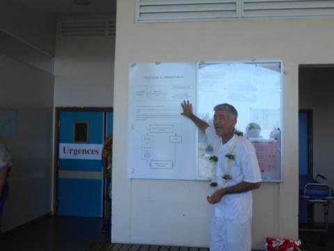 Pour le Docteur Philippe Biarez, responsable des formations sanitaires de Moorea-Maiao, l'ouverture de cette unité est indispensable  pour un meilleur tri des patients vu le  nombre limité de son personnel