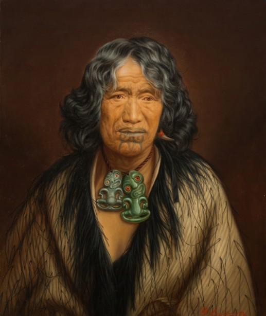 Kuinioroa, daughter of Rangi Kopinga - Te Rangi Pikinga, huile sur toile, Auckland Art Gallery Toi o Tāmaki, don de Mr. H E Partridge, 1915