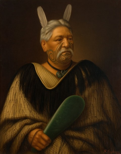 Wahanui Reihana Te Huatare, huile sur toile, Auckland Art Gallery Toi o Tāmaki, don de Mr. H E Partridge, 1915