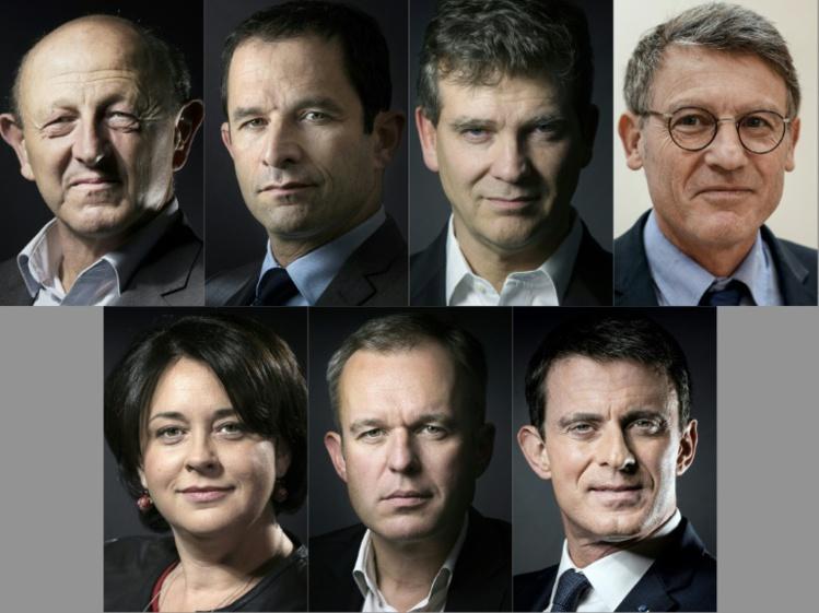Primaire de la gauche: sept candidats intronisés, le sprint commence