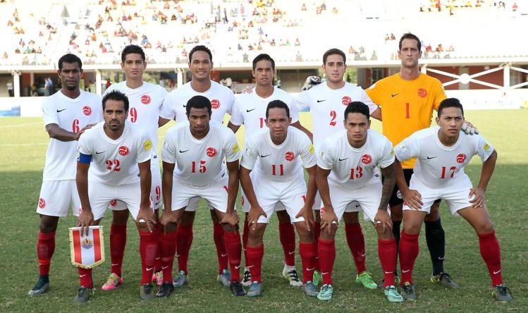 La sélection de Tahiti lors de la dernière Nation's Cup