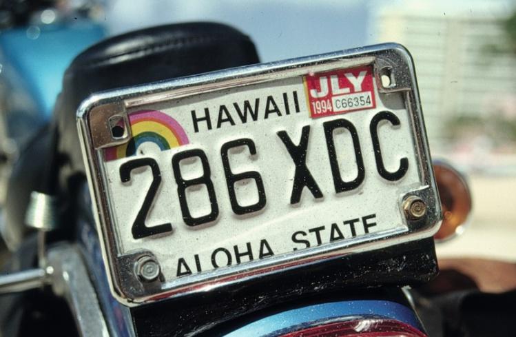 """Vous êtes à Hawaii et nulle part ailleurs. Dans le """"Aloha State"""", le port du casque n'est pas obligatoire pour les motards."""