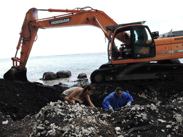 Un enrochement va être fait pour protéger le site.