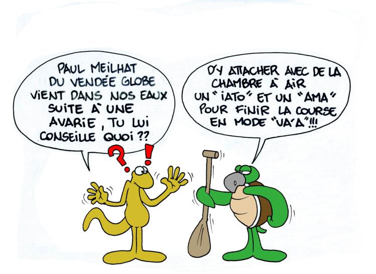 """"""" L'arrivée de Paul Meilhat """" par Munoz"""