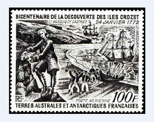 Durant sa navigation vers le sud, Marion-Dufresne découvrit plusieurs îles, dont Crozet, toujours française.