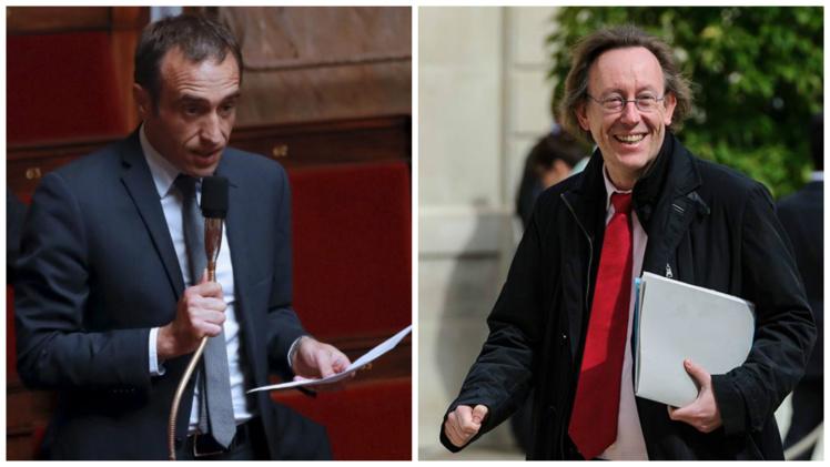 Arnaud Viala, député de l'Aveyron, et  Jean-Patrick Gille, député d'Indre-et-Loire.