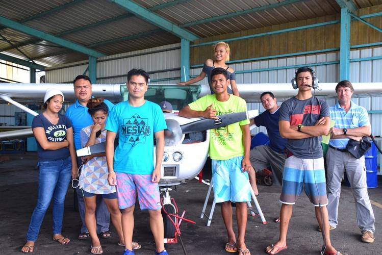 Un baptême de l'air pour 10 jeunes de Faa'a
