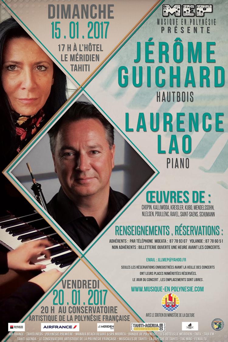 Concerts de hautbois et piano les 15 et 20 janvier