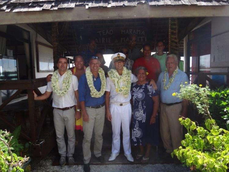 Première visite officielle du Chef de la Subdivision administrative des Iles-sous- le-Vent à Maupiti