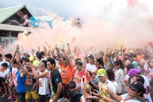 Très en vogue, la color run attire toujours autant de monde.