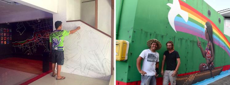 Fresque de Seth avec l'artiste local Rival. (Crédit photo : TNG/Ono'u)