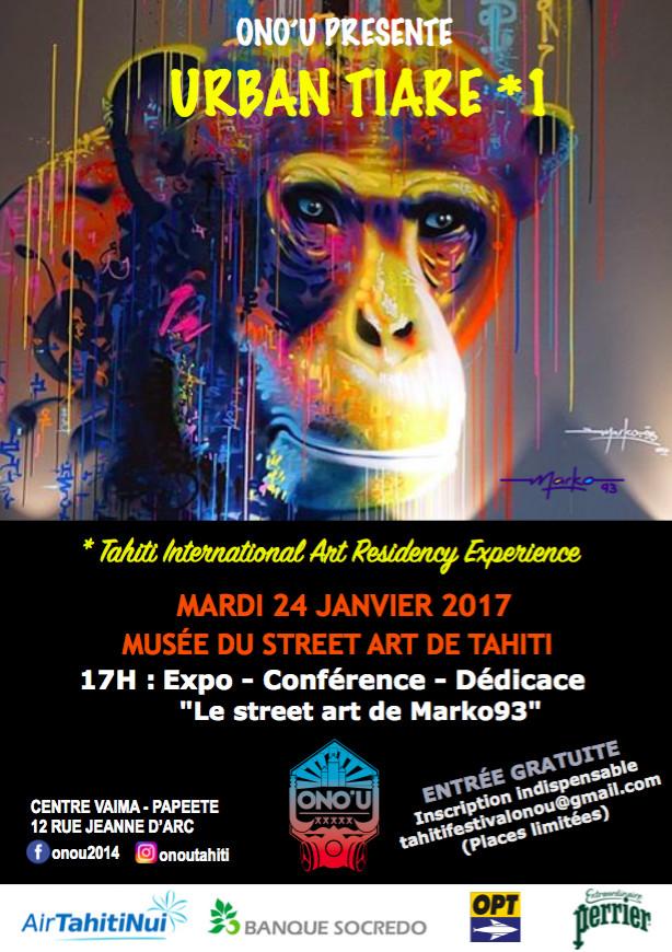 Ono'u : Marko93 prend sa résidence au Musée du Street Art de Tahiti