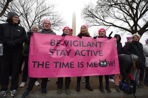 La communauté américaine à la marche des Femmes — Nantes